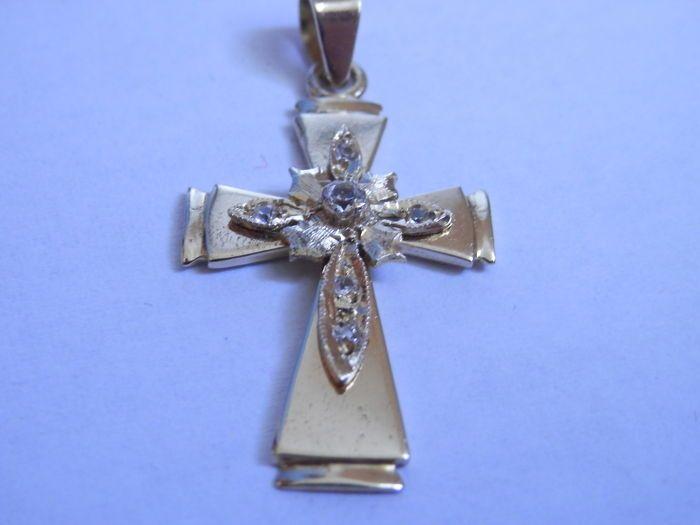 Een prachtig 585/1000 gouden kruis, 1,73 gr