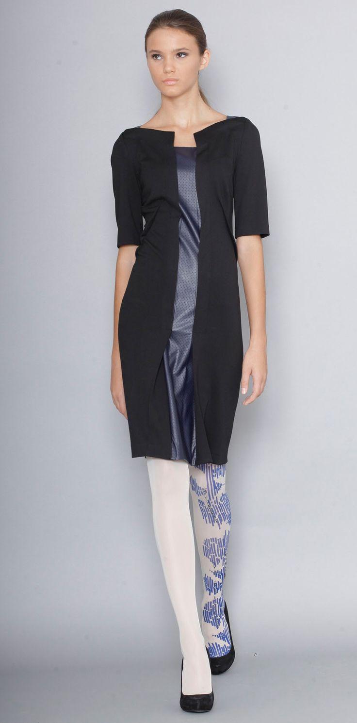 Lena Criveanu Magazin Online Fashion Designer Creatoare De Moda Rochie Jerse Negru Colectie Blue  http://shop.lenacriveanu.ro/