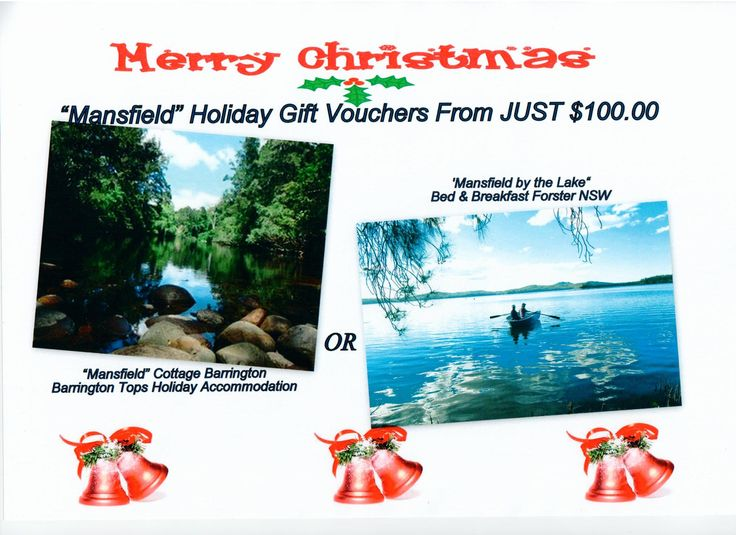 Holiday Gift Holiday Vouchers From Just $100 https://www.facebook.com/pages/MANSFIELD-COTTAGE-BARRINGTON-Barrington-Tops-Holiday-Accommodation/341811962165