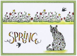 Cards, Cats and Coffee: Floral Spring and Brusho