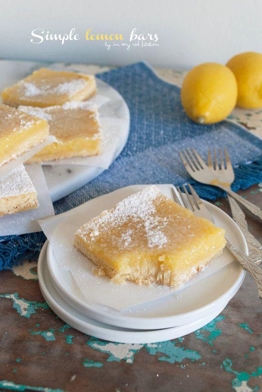 Simple lemon bars, refreshing dessert treat! | in my Red Kitchen #lemon #pie #lemonbars