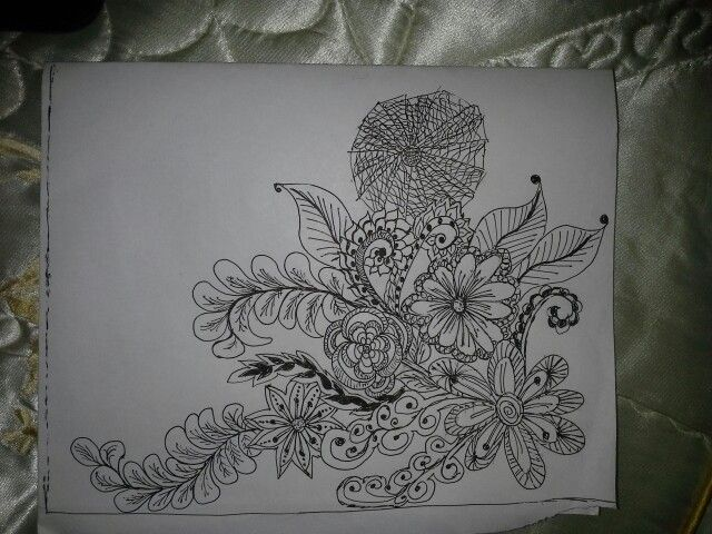 My very first zentangle