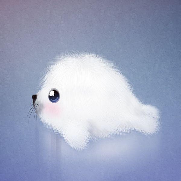 cute seal #animals #cute #art