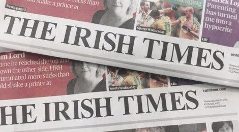image of the Irish Times Newspaper