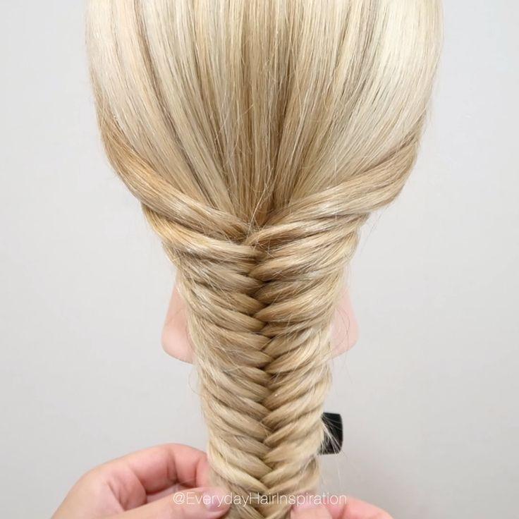 How To Fishtail Braid Everyday Hair Inspiration Fishtail Braid Hair Styles Fish Tail Braid Long Hair Styles