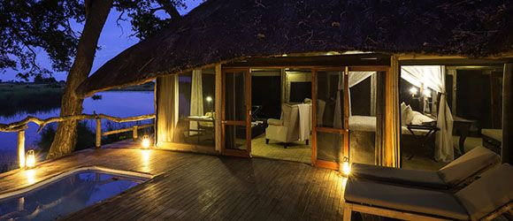 Super luxurious Kings Pool Camp is our top choice for the Linyanti Region.