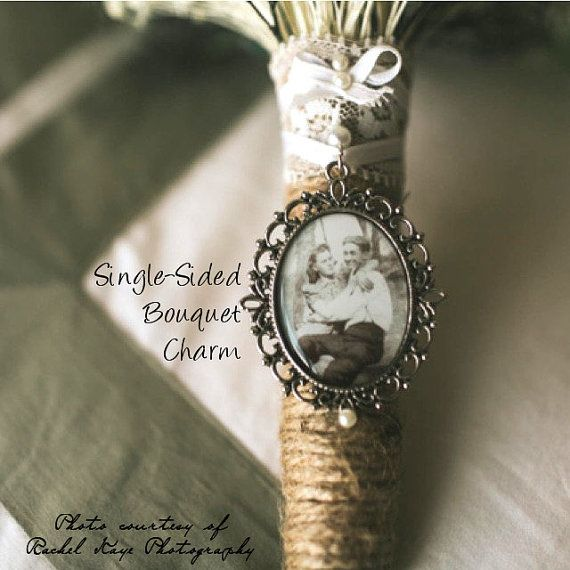 Single  Sided Memorial Bouquet Charm  by NowThatsCharming on Etsy