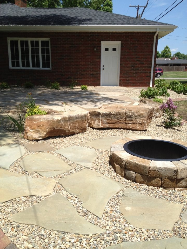fire pit with sitting area gardening pinterest