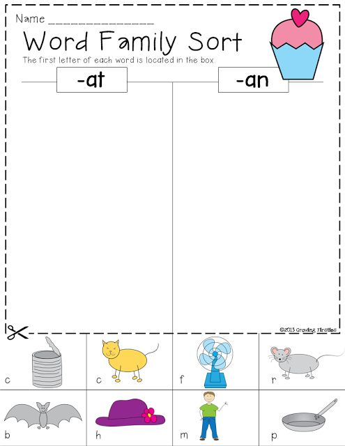 This is a picture of Challenger Word Sorts Printable