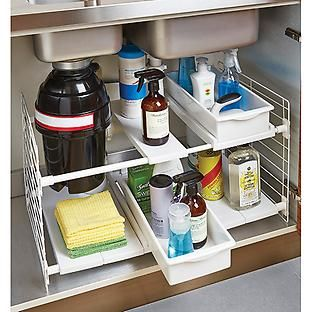 The Container Store > Expandable Undersink Organizer