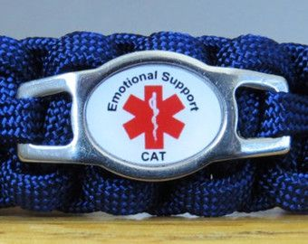 Emotional Support Cat, Emotional Support Animal Cat Collar, Paracord Cat Collar, Survival Collar