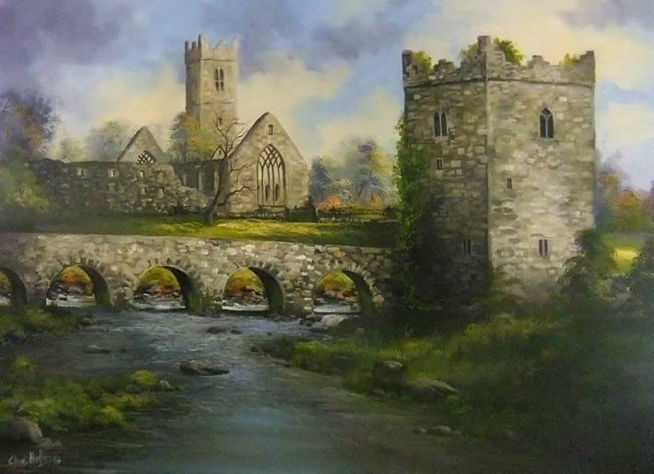 Claregalway Castle & Abbey ~ Clive Hughes