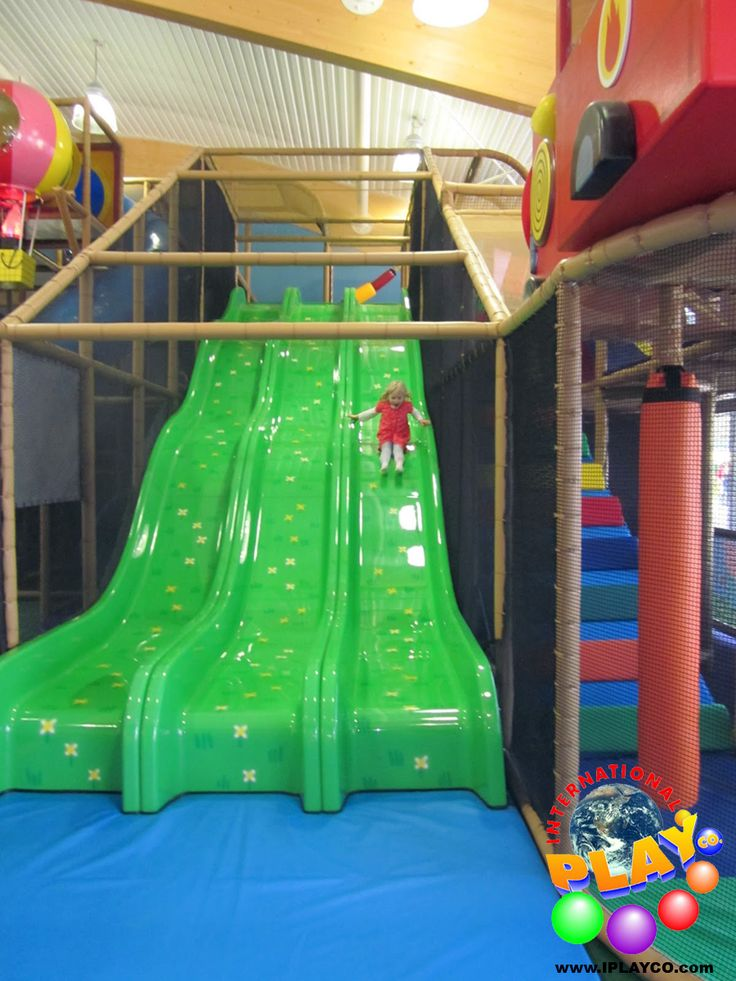 3 Lane Wave Slide - great to put in your design of your indoor play equipment structure for your family entertainment center. Kids love to slide.
