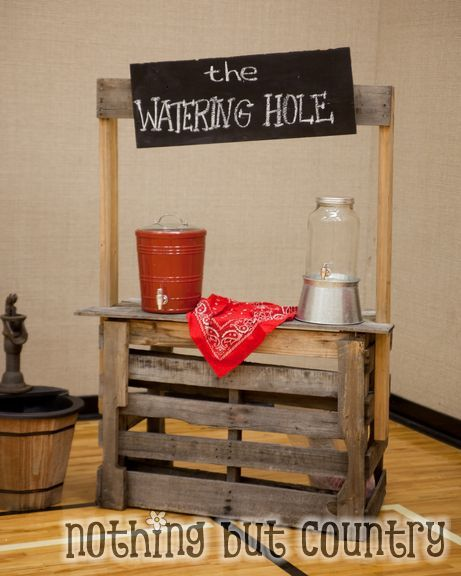 Don't just call it a drink station, call it a watering hole! Your cowboys will be sure to want to get a drink here before continuing off on their games.
