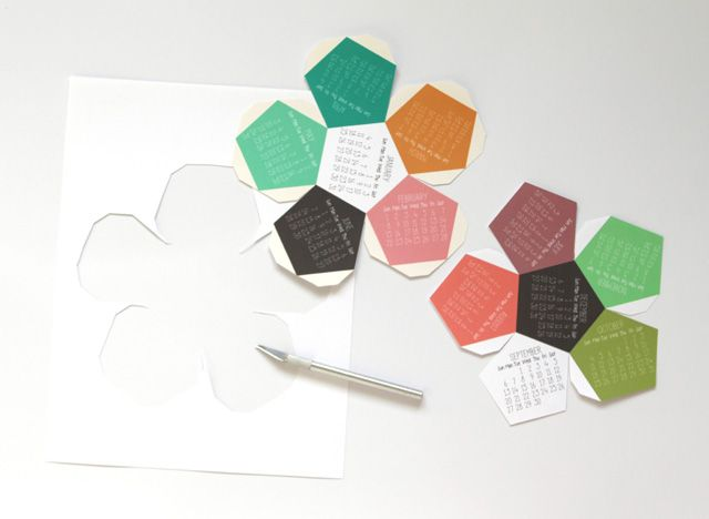 Hacer 3D 2015 Calendario! Para imprimir gratis | Un pedazo de arco iris