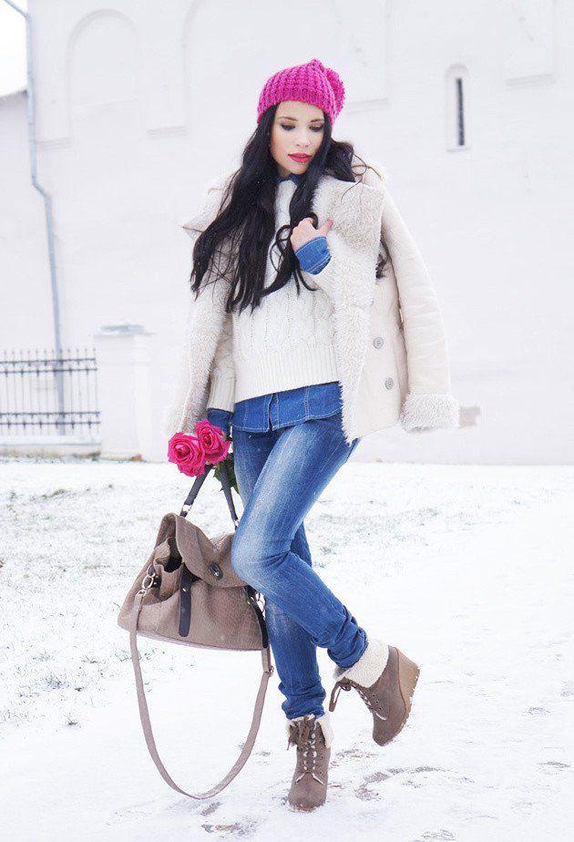 Modne kombinacije za snježne dane - Ženstvena
