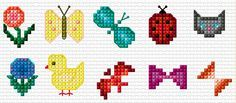 Cross Stitch   Small Motifs xstitch Chart   Design