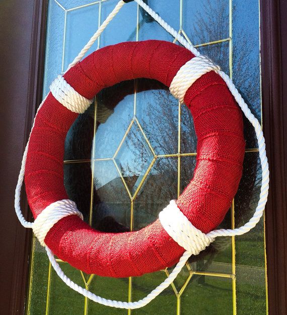 Life+Preserver+Burlap+Wreath+18+Summer+Pool+by+TheCraftyChicShoppe,+$35.00