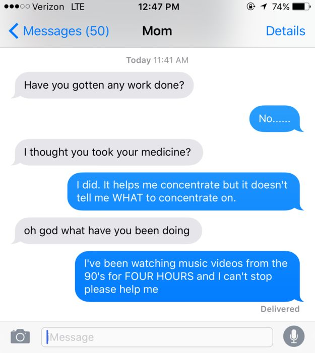 This familiar convo: | 16 Pictures That Are Too Real For People With ADD/ADHD