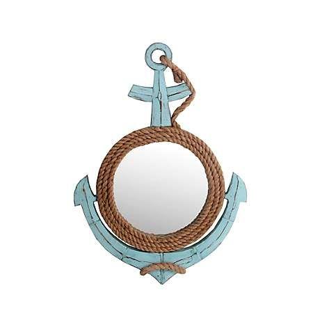 Sea Blue Anchor Decorative Wall Mirror | Kirklands ... on Floor Mirrors Decorative Kirklands id=26750