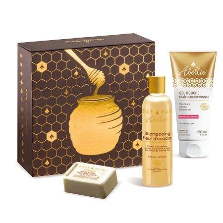 Coffret cadeau reine des abeilles. Retrouvez une peau éclatante et des cheveux brillants grâce au coffret Reine des Abeilles !