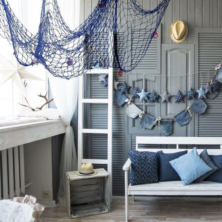 Nautical Fishing Net Seaside Wall Beach Party Sea Shells Home Garden Decor new • £5.49 - PicClick UK
