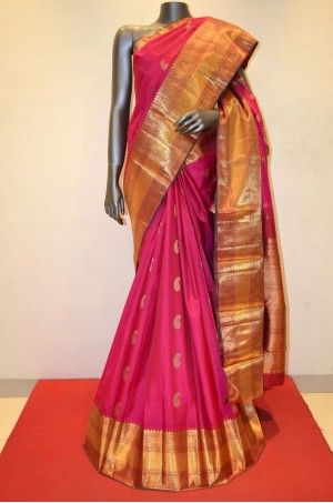 Pink Bridal Wear Exquisite Kanjivaram Silk Saree Product Code: AA209907