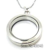 5 pz ! ! 30 mm rotonda d'argento di vetro magnetico galleggiante fascino medaglione in lega di zinco di trasporto ( catene inclusi gratuitamente )