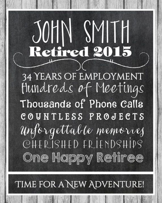 Retirement Print Retirement Gift Retiree Gift. by CreativeKittle