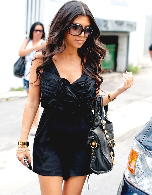 kourtney kardashian: Hermes Bracelets, Hair Colors, Kourtney Kardashian, Cute Dresses, Long Hair, Kourtneykardashian, Outfit, Little Black Dresses, The Dresses