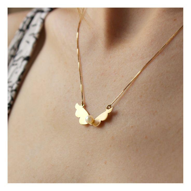 #handmade #franbagatini #design #art #pearl #jewel #necklace #gold #brazil