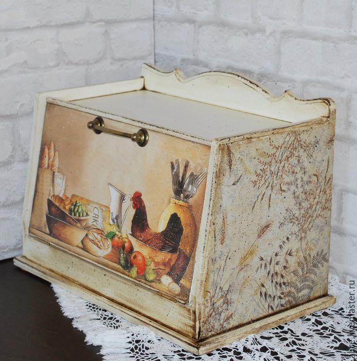 Купить Хлебница большая - разноцветный, хлебница, хлеб, хлебница из дерева, кухня, кухонный интерьер