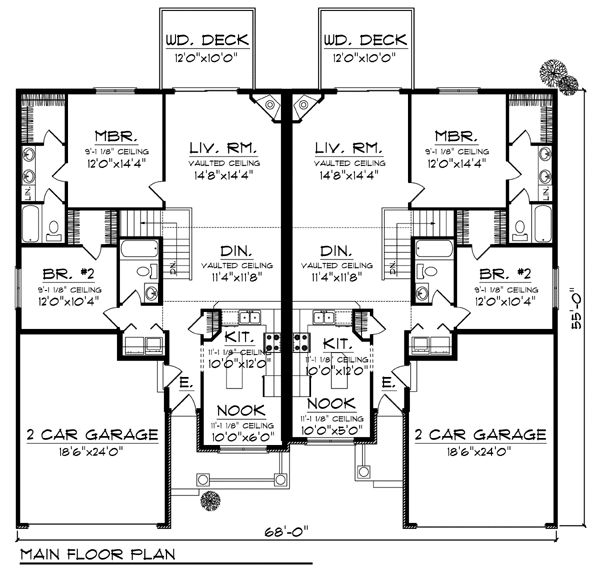 17 best images about condo plans on pinterest craftsman for Multi family condo plans
