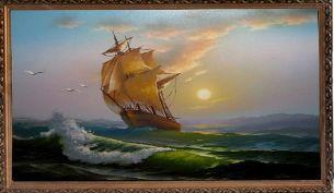 Шторм - Морской пейзаж <- Картины маслом <- Картины - Каталог | Универсальный интернет-магазин подарков и сувениров