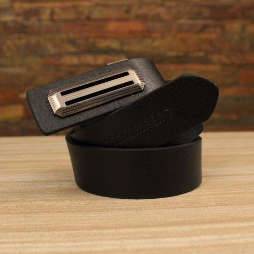Men's Semi-Formal Synthetic Leather  Belt With  Push Pin Buckle