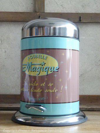 Poubelle de salle de bain Poubelle magique, Natives Deco