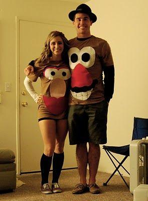 DIY Mr. & Mrs. Potato Head t-shirt costumes!very simple!