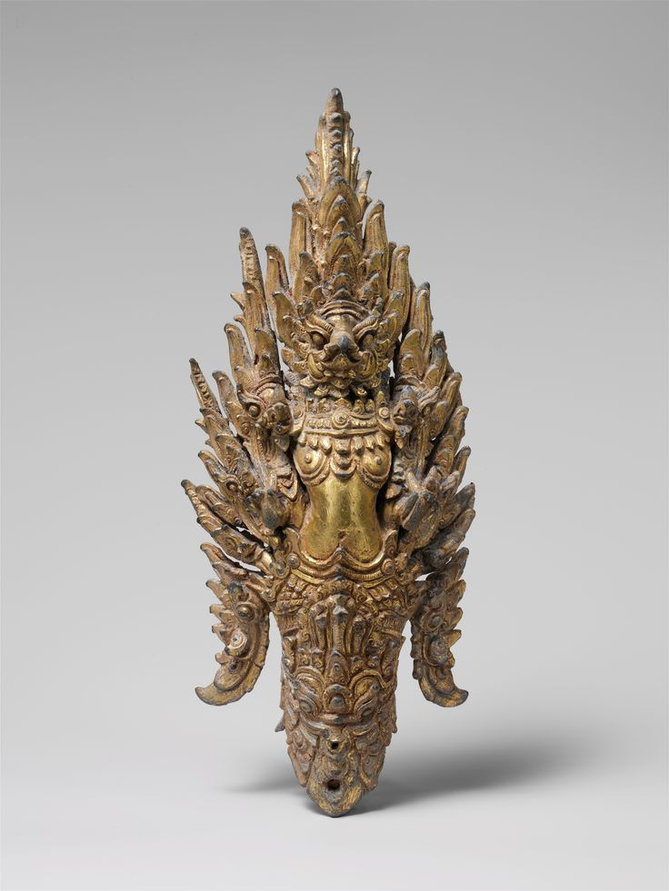Garuda Finial  Date:     late 12th–early 13th century Culture:     Thailand Medium:     Gilt bronze