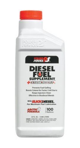 Power Service 1025-12 Diesel Fuel Supplement Plus Cetane Boost 32 Oz