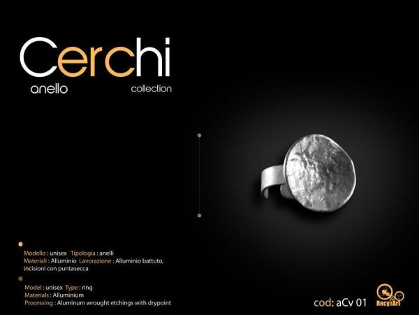 Anello Cerchi Collection. By Recykart