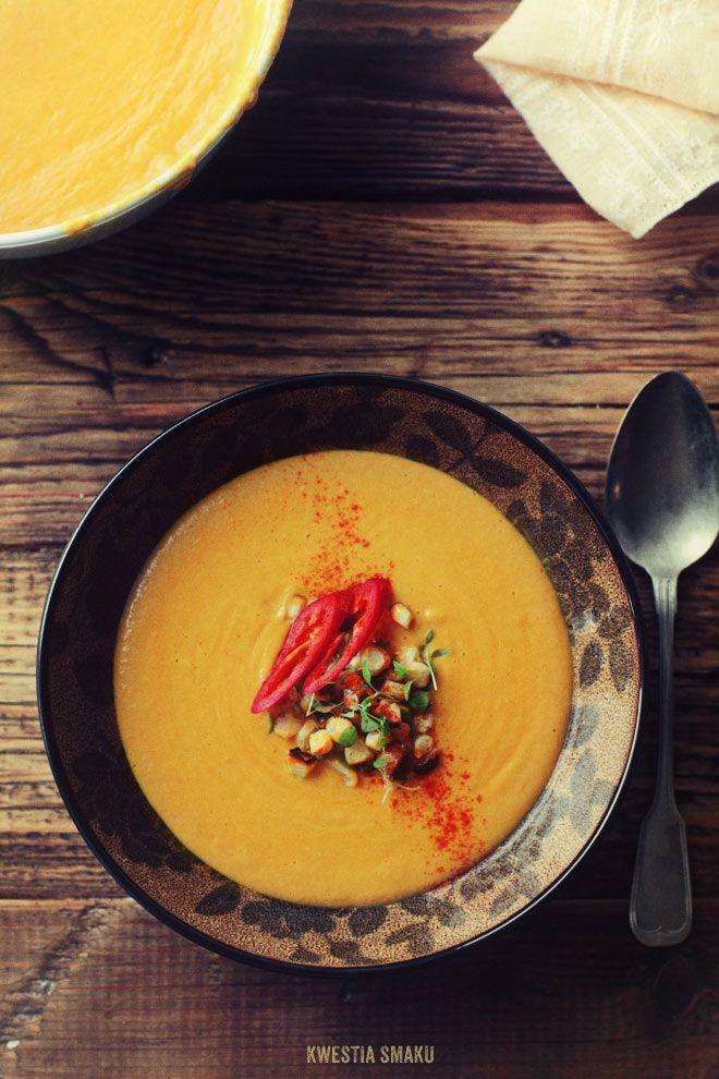 Zupa krem z kukurydzy - PrzepisKremowa Zupas, Kukurydzi, Kwestia Smaku, Corn Soup, Recipes, Coconut Milk, Mlekiem Kokosowym, Zupas Krems, Eating Soup