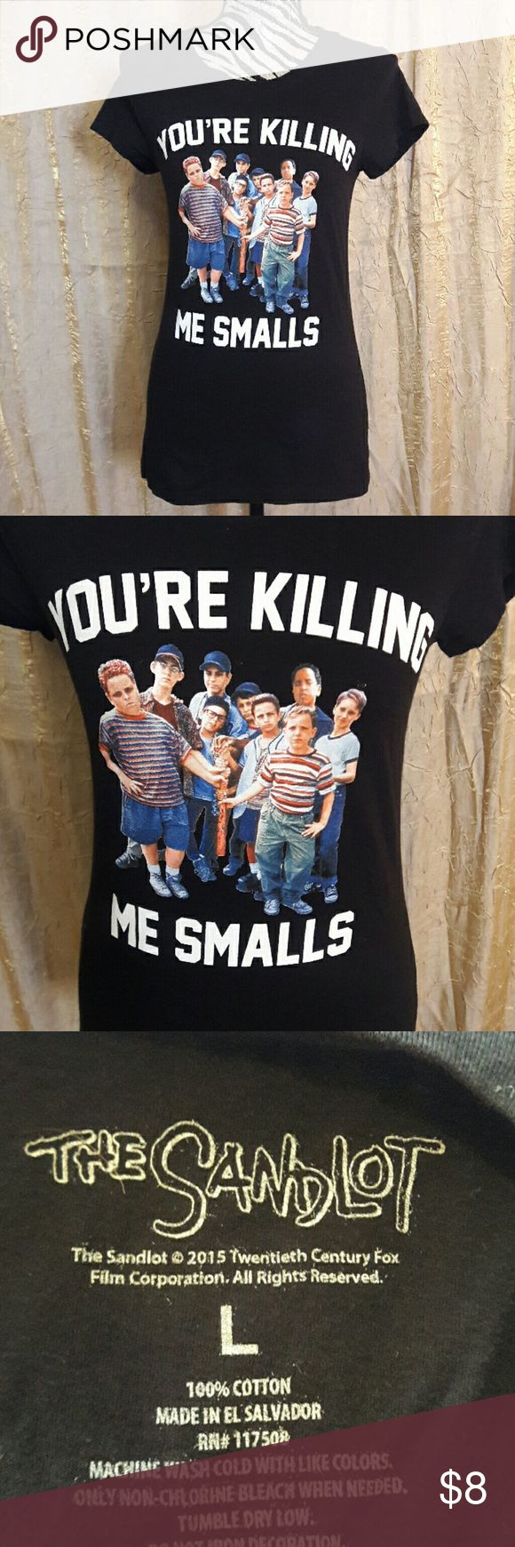 "The Sandlot t-shirt Size large black The Sandlot cast t-shirt. It says ""you're killing me smalls"" 100% cotton Tops Tees - Short Sleeve"