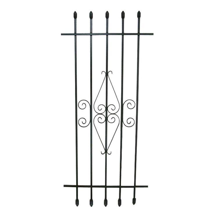 Window Security Bar Frame Steel Black 24 x 54 Inches Spear Point Window Guard   | eBay