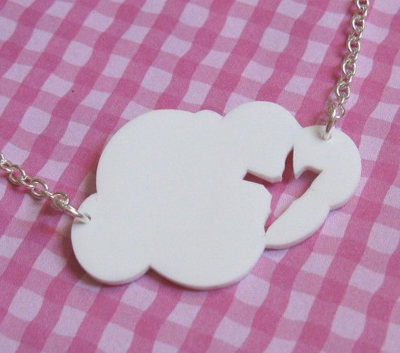 Hanging Out in the Clouds Necklace van Missbluebirdandoscar op Etsy, $11.00
