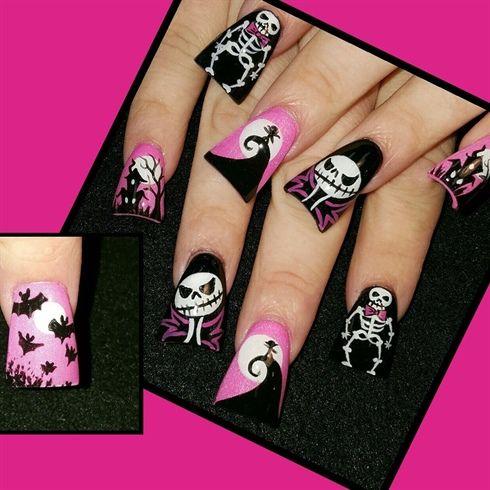 Brust + Krebs + Bewusstsein + Halloween + von + Oli123 + – + Nail + Art + Gallery + nailartgallery.na …   – nails