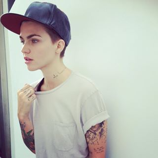 When she made a simple black cap look stylish AF.   18 Times Ruby Rose's Style Was On Point In 2015