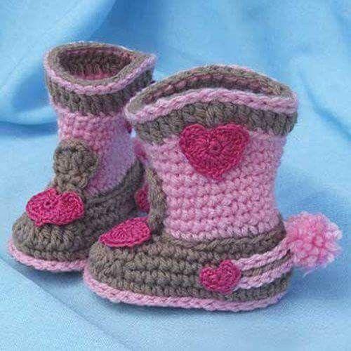 Rock-a-Billy Baby Boots - Crochet Pattern (Beautiful Skills - Crochet  Knitting Quilting)