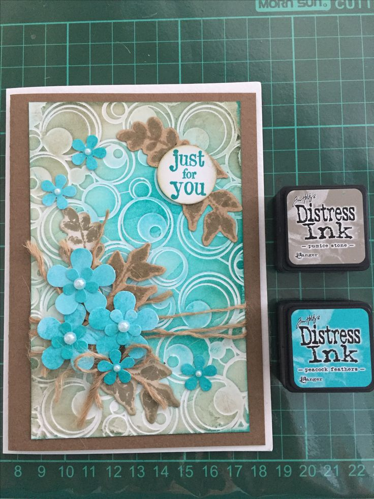 Handmade card with Tim Holts Distress Inks