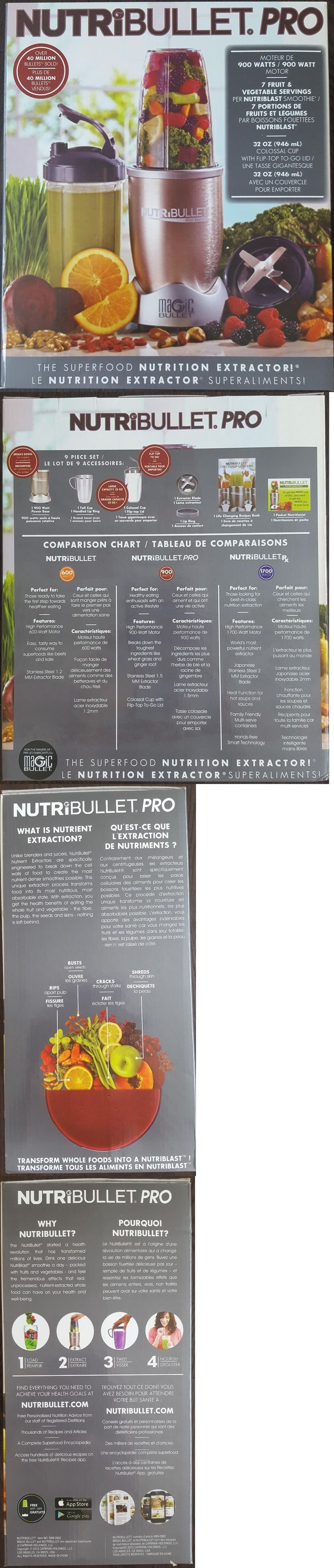 Small Kitchen Appliances: **Sale* Nutribullet Pro 9 Piece Xtractor 900 Hi-Speed Blender Mixer Set Nb9-0901 -> BUY IT NOW ONLY: $78.99 on eBay!
