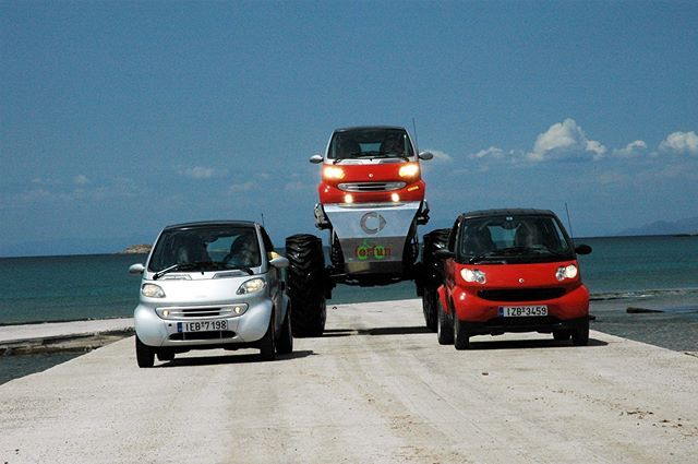 ForFun #smart #smart450 #smartfortwo #smartforfun #forfun #fun #wheels #offroad #car #coupe #red #white #silver